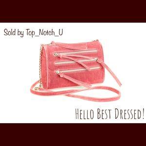 Pink Velvet Crossbody Handbag 😋